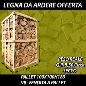Legna da ardere su pallet scoperti 100x100xh180 croata for Legna da ardere prezzi